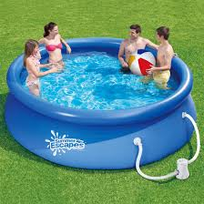cheap summer escapes 10ft ring pool set with cover filter