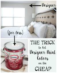 Best Rated Interior Paint Brands 2015 The Trick To Get Designer Paint Colors On The Cheap