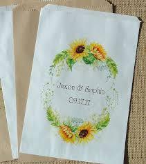 sunflower wedding favors wedding favor bags sunflower wedding sunflower favor bags