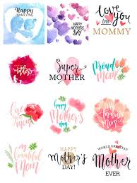 mothers day stickers watercolor happy mothers day stickers reviews at