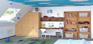 kinderzimmer mit schräge kleiderschrank im kinderzimmer dachschräge bücherr couchstyle