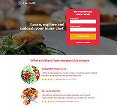 restaurant landing page templates by unbounce