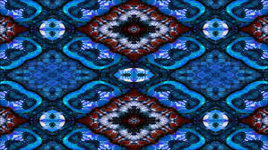 blue kaleidoscope wallpaper kaleidoscope pattern of blue easter eggs with white feathers stock