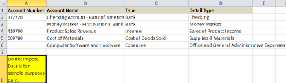Quickbooks Chart Of Accounts Excel Template Quickbooks Tutorial Setup Small Business Doer