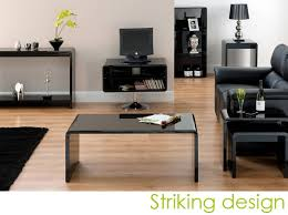 Black Living Room Furniture Uk World Furniture Toscana Console Table In Black High Gloss