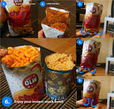 how to make an instant snack bowl out of a bag of chips potato