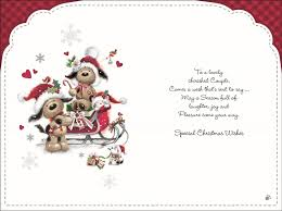 to a special grandson u0026 his wife u2013 with love at christmas u2013 card