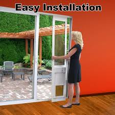 Sliding Patio Door Security by Fully Automatic Pet Doors Adapted For Sliding Glass Doors