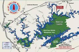 cumberland lake map flat hollow marina norris lake vacation rentals