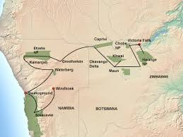 Victoria Falls Map Great Trans African Lodge Safari Jenman African Safaris