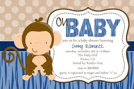 monkey baby shower invitations cloveranddot com