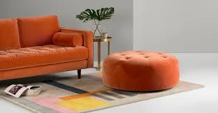 pouf marocain cuir orange pouf ottoman home appliances decoration