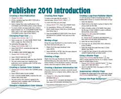 publisher 2010 quick reference cheat sheet guide card beezix