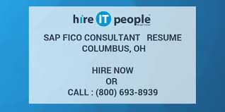 Sap Copa Resume Sap Fico Consultant Resume Columbus Oh Hire It People We Get