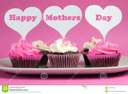 happy s day message on pink and white decorated cupcakes