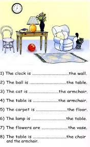 prepositions of place exercises for kindergarten 14 best