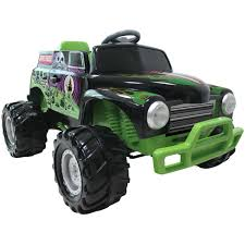large grave digger monster truck toy monster jam 12v grave digger ride on big w
