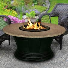 Standard End Table Height by San Simeon 48 Inch Propane Fire Pit Table By California Outdoor