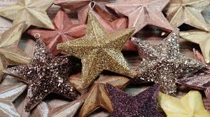 how to make christmas tree ornaments glitter stars youtube