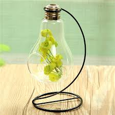 hanging bulb crystal glass plant terrarium container wedding