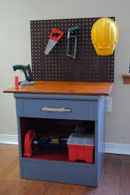 Diy Workbench Free Plans Diy Workbench Workbench Plans And Spaces by Nightstand Repurposed It U0027s Now A Kids Workbench Kids Workbench