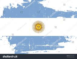 argentina scratched flag argentinian flag grunge stock vector