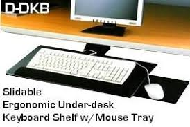 dkbdk slidable underdesk ergonomic keyboard shelf w mouse tray