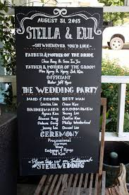wedding program sign program sign for weddings on chalkboard 100 custom by lbfstudio