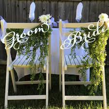 and groom chair signs wedding chair signs decoration groom woodword design