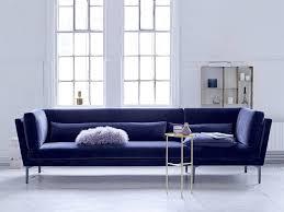 bloomingville rox sofa bench blue velvet living and co