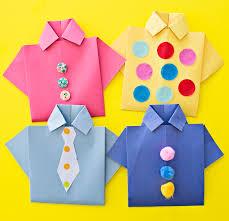 hello wonderful easy origami shirt father u0027s day card