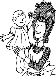 amelia bedelia and baby coloring page wecoloringpage