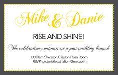 post wedding brunch invitation wording breakfast after wedding invitation wording wedding invitation ideas
