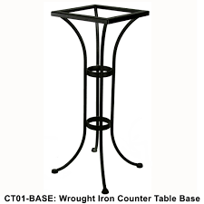 Ow Lee San Cristobal by Ow Lee Standard Wrought Iron Counter Height Bistro Table Base