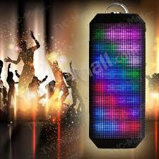 led light bluetooth speaker ym 339 color changing dancing light bluetooth speaker stereo sound