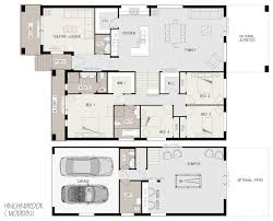 Narrow Block Floor Plans Hinchinbrook Split Level Sloping Block Marksman Homes