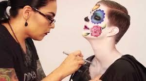 Halloween Airbrush Makeup Kit dinair airbrush makeup day of the dead youtube