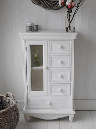 Bathroom Storage White White Bathroom Cabinet White Finish Stained Plastering Wall Floor