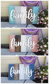 home decor family signs new distressed barn wood word indoor outdoor home decor