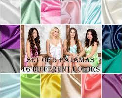set of 5 bridesmaid pajamas pajama set bridesmaid gift