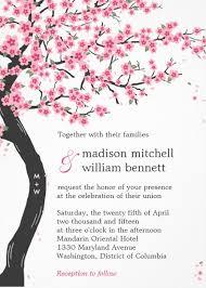 cherry blossom wedding invitations berry berry sweet unique wedding invitations