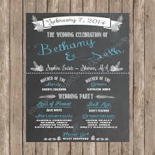 Chalkboard Wedding Program Template Chalkboard Wedding Program Printable Wedding Program Wedding