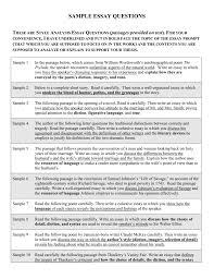evaluation sample essay sample essay questions