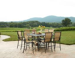 High Patio Dining Set Agio International Panorama Outdoor 9 High Dining Patio Set