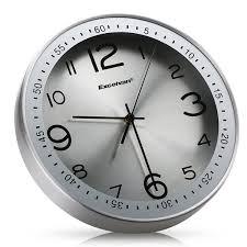 excelvan silent wall clock 12 inch metal clock quiet sweep