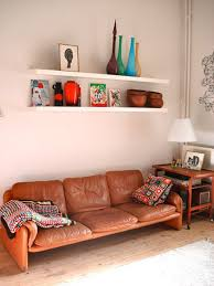 Midcentury Leather Sofa Reader U0027s Home Kathleen U0027s Mid Century Home In Belgium Desire To