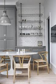 white shaker kitchen cabinets with white subway tile backsplash 20 gorgeous gray and white kitchens maison de pax