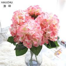 hydrangea bouquet haochu pink blossom hydrangea bouquet artificial silk flower