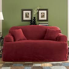 sure fit soft suede t cushion loveseat slipcover walmart com