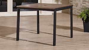 Crate And Barrel Outdoor Furniture Covers by Rocha Faux Wood Patio Table Crate And Barrel
